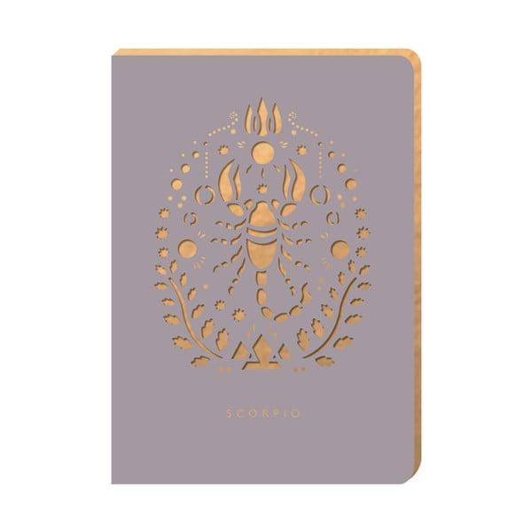 Notatnik w linie Portico Designs Skorpion, 124 strony