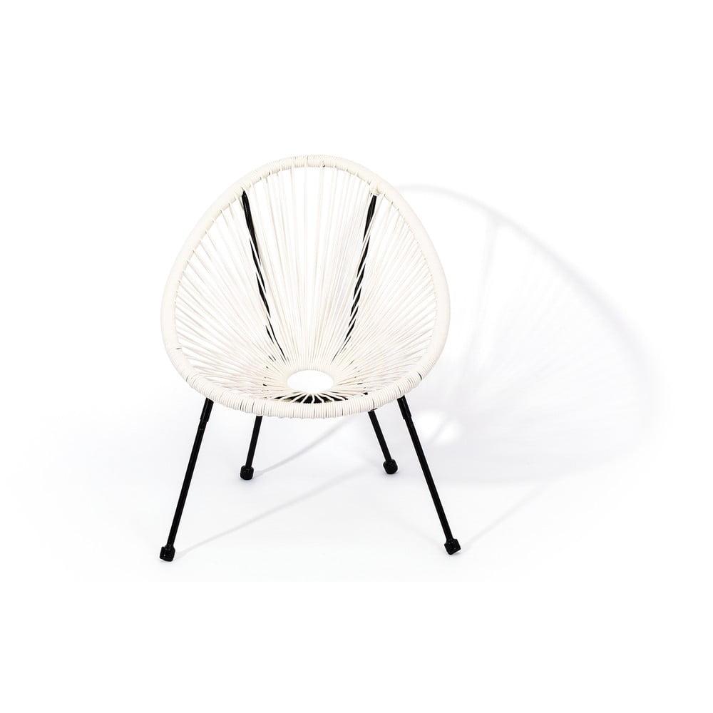 Białe wiklinowe krzesło Le Bonom Avocado