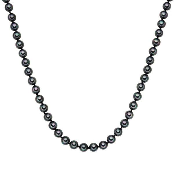 Naszyjnik z grafitowych pereł ⌀ 8 mm Perldesse Muschel, długość 120 cm