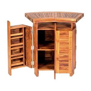 Składany stolik barowy z drewna tekowego Massive Home Real