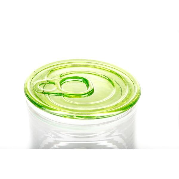 Pojemnik szklany z zielonym wieczkiem Kaleidos Can, 10,5x9cm