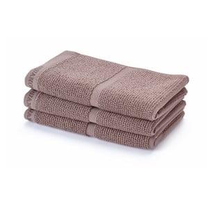 Szarobrązowy ręcznik Aquanova Adagio, 30x50cm