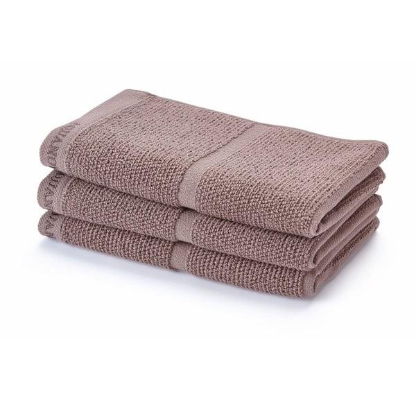 Szaro-brązowy  ręcznik Aquanova Adagio, 30x50cm