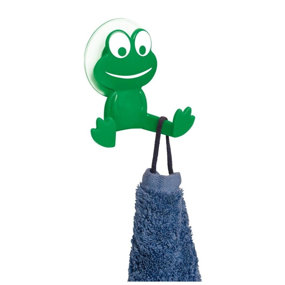 Zielony haczyk ścienny Wenko Frog