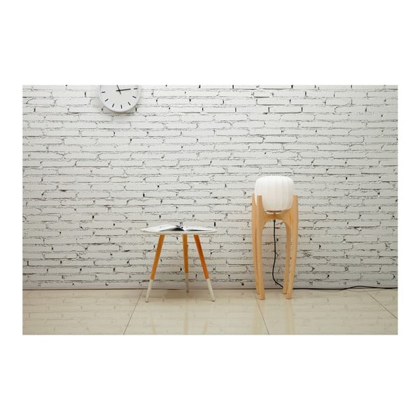 Biała lampa stojąca Garageeight Tom