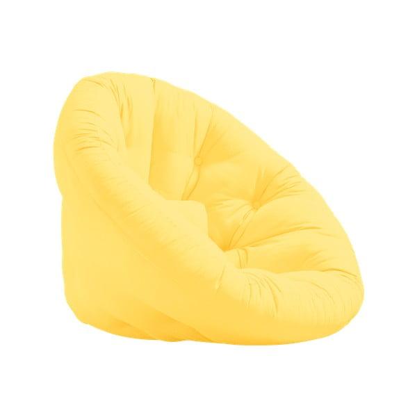 Fotel rozkładany Karup Design Nido Yellow