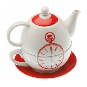 Czajnik z filiżanką Red Clock