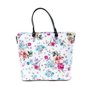 Skórzana torebka Carla Ferreri 900, w kwiaty