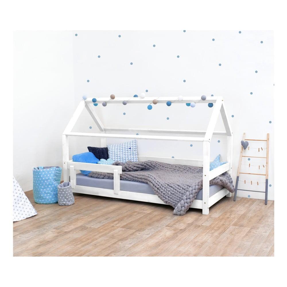 Białe łóżko Dziecięce Z Bokami Z Naturalnego Drewna świerkowego Benlemi Tery 120x200 Cm Bonami