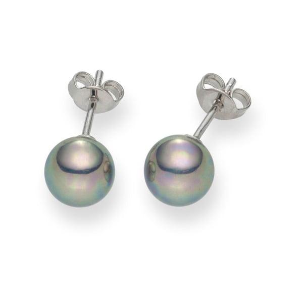 Srebrnoszare   perłowe kolczyki Pearls Of London