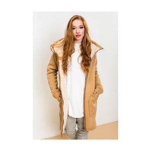 Jasnobrązowa kurtka Lull Loungewear Attitude, rozmiar L