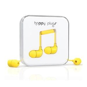 Słuchawki dokanałowe Happy Plugs, żółte