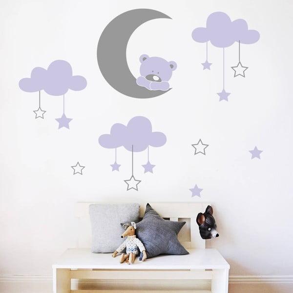 Naklejka ścienna Niedźwiedź i księżyc, 70x50 cm