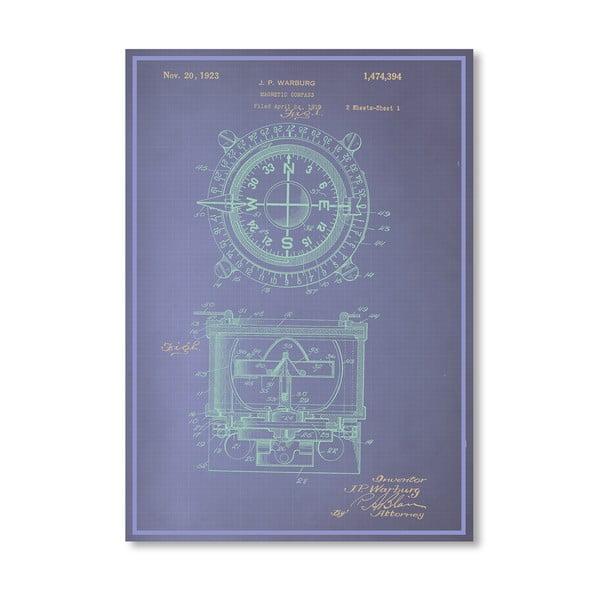 Plakat Magnetic Compass, 30x42 cm