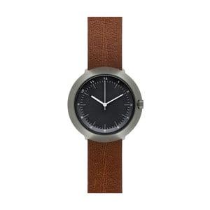 Zegarek Black Fuji Brown Leather, 43 mm