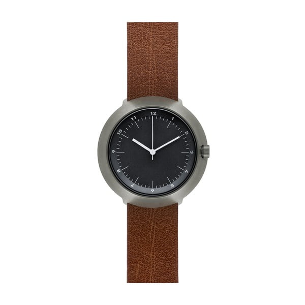 Zegarek Black Fuji Brown Leather, 43 mm