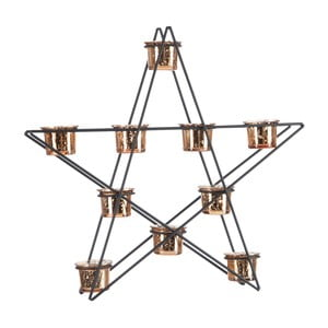 Lampion Star Black and Gold