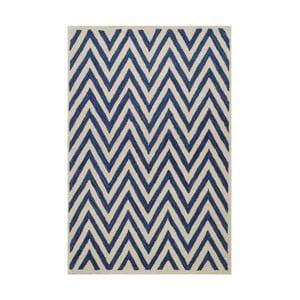 Dywan wełniany Ziggy, 122x183 cm, ciemnoniebieski