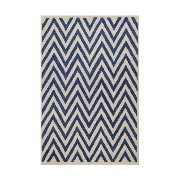 Dywan tuftowany ręcznie Ziggy, 244x153cm, niebieski