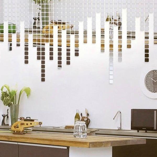 Zestaw 100 naklejek lustrzanych Ambiance Mosaic