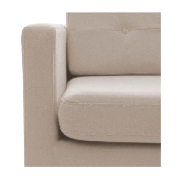 Sofa trzyosobowa VIVONITA Jonan, beżowa, czarne nogi