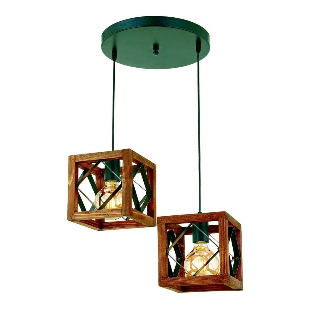 Lampa wisząca z drewna grabu Zikzak Tepsili