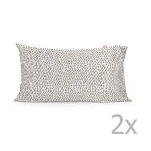 Zestaw 2 poszewek na poduszki Happy Friday Light Printed, 50x80 cm