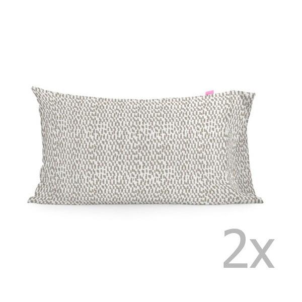 Zestaw 2 bawełnianych poszewek na poduszki Happy Friday Light,50x80cm