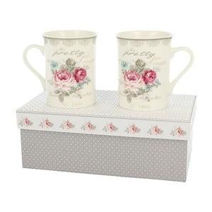 Zestaw 2 porcelanowych kubków Roses, 0,3 l