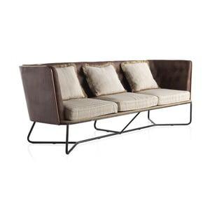 Sofa 3-osobowa z metalową konstrukcją Geese