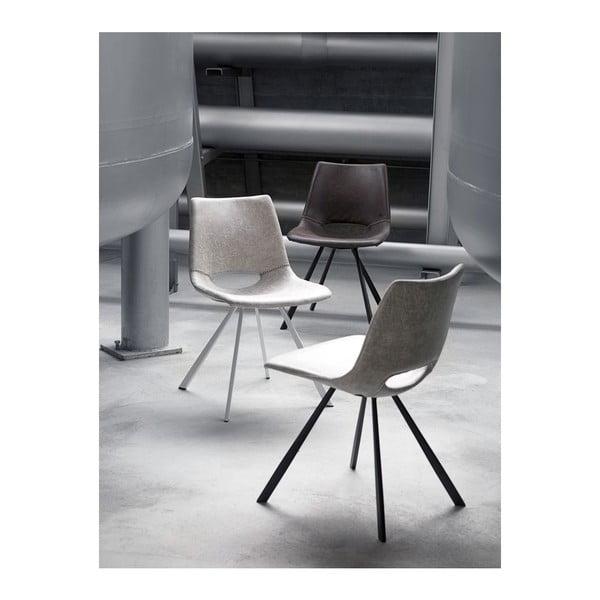 Zestaw 4 szarych krzeseł Canett Coronas