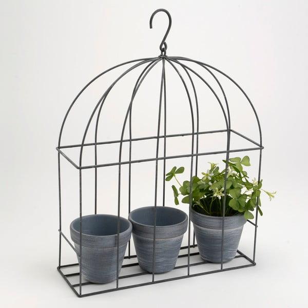 Klatka dekoracyjna z doniczkami Cage Plant