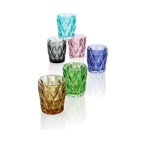 Zestaw 6 szklanek Brandani Diamante, 270 ml