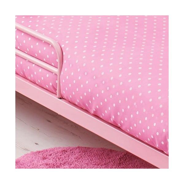 Łóżko dziecięce z materacem i pościelą Bundle, różowe