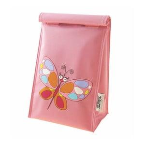 Różowa torebka na lunch Navigate Butterfly