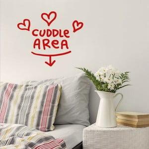Naklejka Cuddle Are 28x31 cm, czerwona