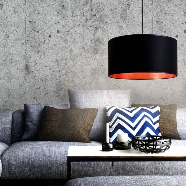 Czarno-miedziana lampa wisząca Bulb Attack Tres, ⌀ 50cm
