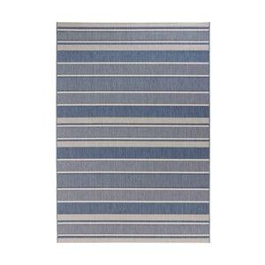 Niebieski dywan odpowiedni na zewnątrz Bougari Strap, 120x170cm