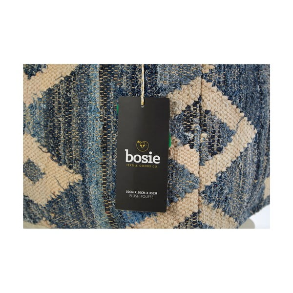 Puf Bosie Blue Aztec