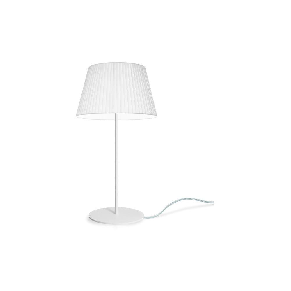 Biała lampka stołowa Sotto Luce KAMI Elementary M 1T