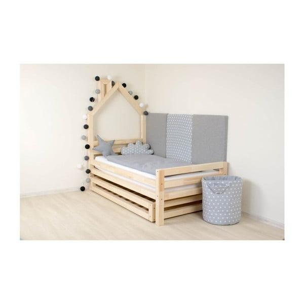 Łóżko dziecięce z lakierowanego drewna świerkowego Benlemi Wally,90x200cm
