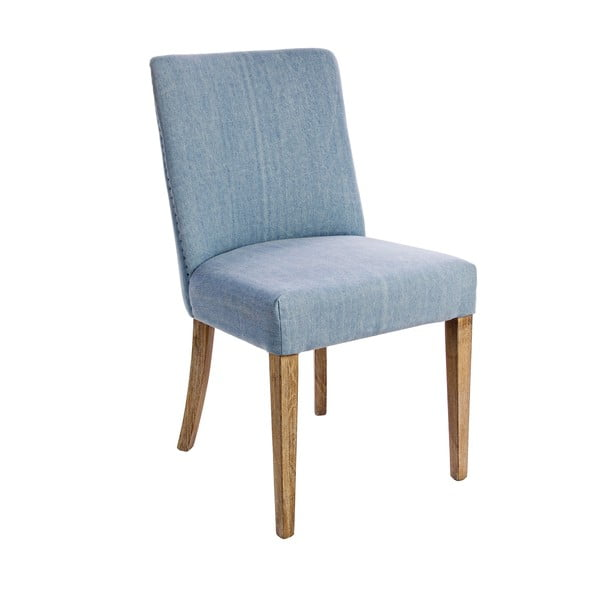 Krzesło Schienale, modrý potah