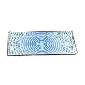 Talerz porcelanowy Blue Stripe, 28 cm