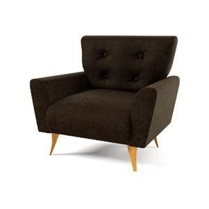 Fotel Lacoma, ciemnobrązowy