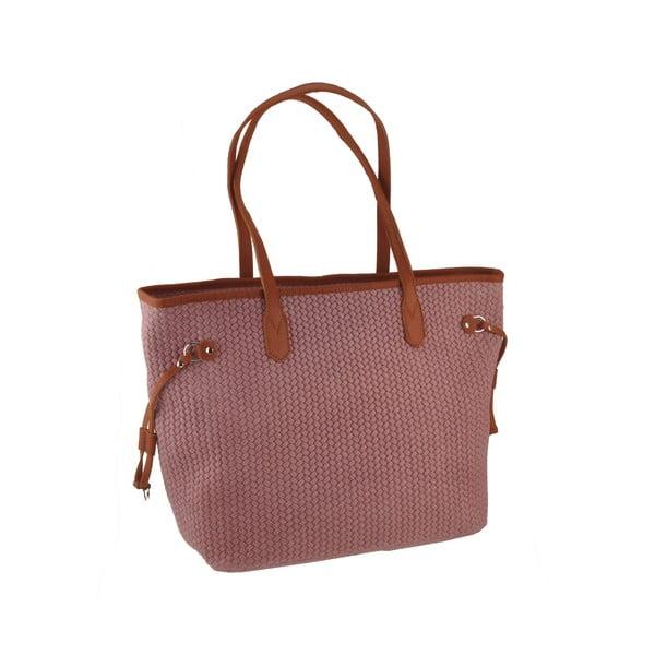 Skórzana torebka Merga, różowa