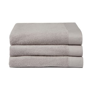 Zestaw 3 szarych ręczników Seahorse Pure,60x110cm