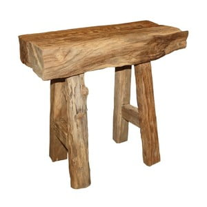 Taboret z drewna tekowego HSM Collection Rustic