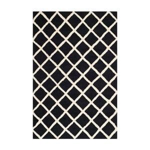 Dywan wełniany Sophie Black, 121x182 cm