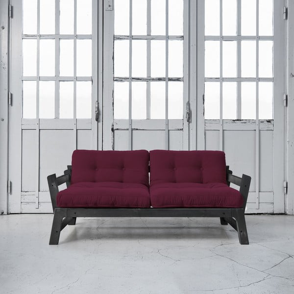 Sofa rozkładana Karup Step Black/Light Bordeaux
