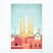 Plakat Travelposter Barcelona, A3